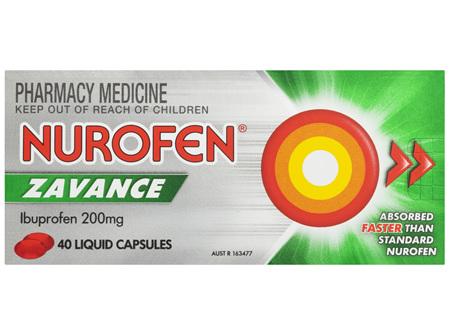 Nurofen Zavance Fast Pain Relief Liquid Capsules 200mg Ibuprofen 40 pack