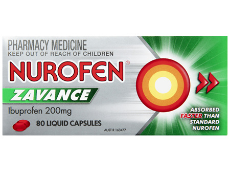 Nurofen Zavance Fast Pain Relief Liquid Capsules 200mg Ibuprofen 80 pack