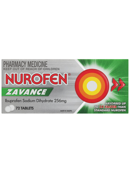 Nurofen Zavance Fast Pain Relief Tablets 200mg Ibuprofen 72 pack
