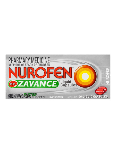 Nurofen Zavance Liquid Capsules 40 Pack