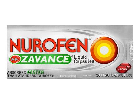 Nurofen Zavance Liquid Capsules Pain Relief 200mg 20 Pack