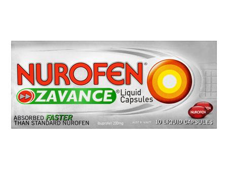 Nurofen Zavance Liquid Capsules Pain Relief 200mg 10 Pack