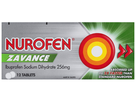 Nurofen Zavance Tablets 12s 200mg Ibuprofen Pain Relief