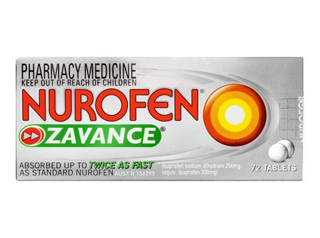 Nurofen Zavance Tablets 72 Pack