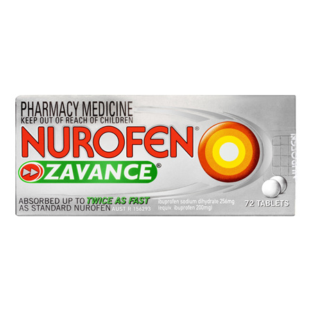 Nurofen Zavance Tablets 72 Pack