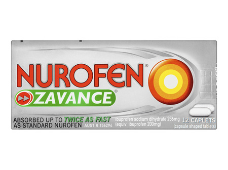 Nurofen Zavance Tablets Pain Relief 256mg 12 Pack