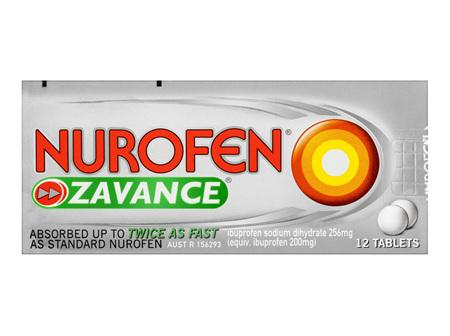 Nurofen Zavance Tablets Pain Relief 256mg 12 Pack