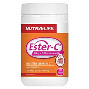 Nutra-Life Ester-C® 500mg + Echinacea Chewables 120s