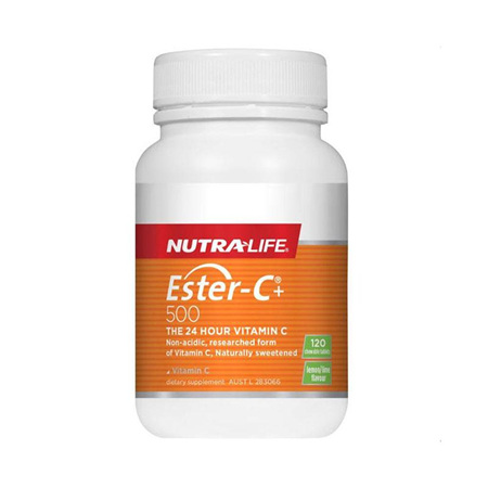 NUTRA-LIFE Ester C 500mg Lemon/Lime Chews 120