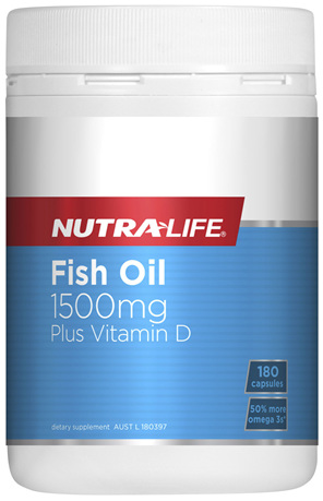 Nutra-Life Fish Oil  1500mg Plus Vitamin D 180 capsules