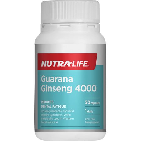 NUTRA-LIFE Guarana Ginseng 4000mg 50caps