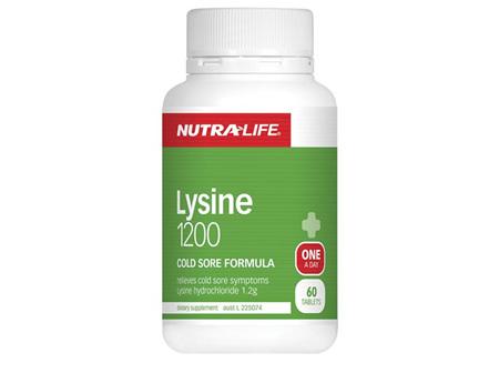 Nutra-Life Lysine 1200 60 Tabs
