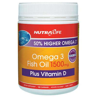 Nutra-Life Omega 3 1500mg Vit. D 180 caps