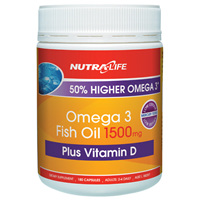 Nutra-Life Omega 3 1500mg with Vit. D 180 Caps