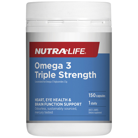 Nutra-Life Omega 3 Triple Strength 150c