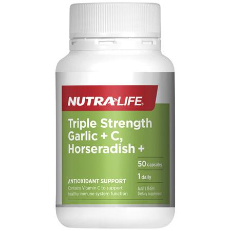 Nutra-Life Triple Strength Garlic + C, Horseradish + 50c