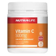Nutra-Life Vitamin C 500mg Chews 200
