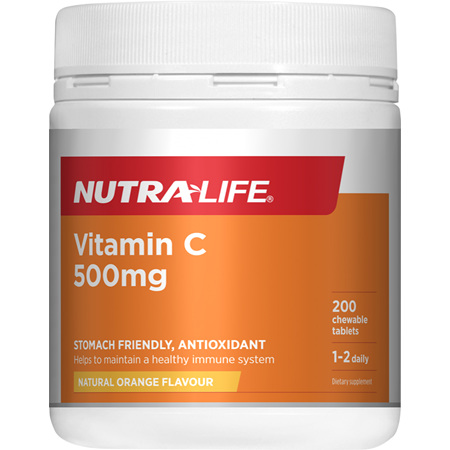 NUTRA-LIFE Vitamin C 500mg Chews 200