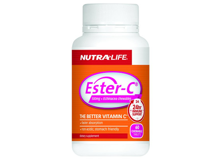 Nutralife Ester C + Echinacea - 60 chewables