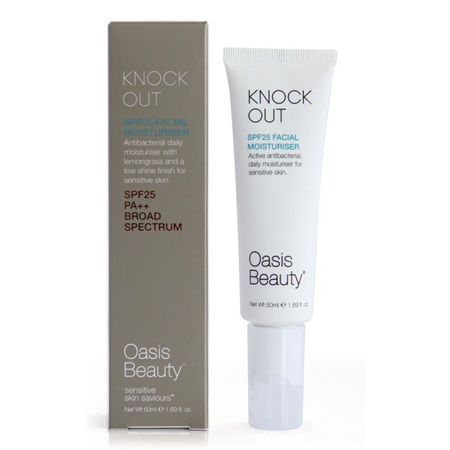 Oasis Knock Out SPF 25 Antibacterial Moisturiser 50ml
