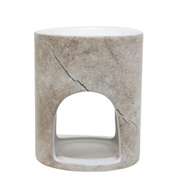 Oil Burner - Bleached Wood - 12cmh