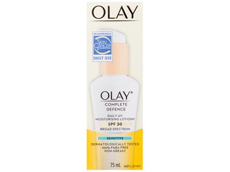 Olay® Complete Defence Daily UV Moisturising Lotion Spf 30 Sensitive 75mL