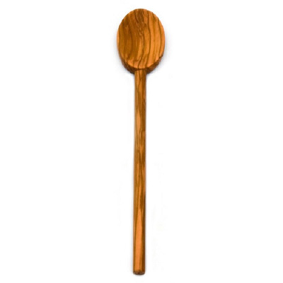 Olive Wood Oval Spoon - 30cm