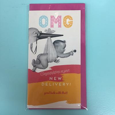OMG Baby Congrats Card