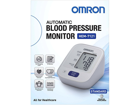 Omron Blood Pressure Monitor Standard HEM7121