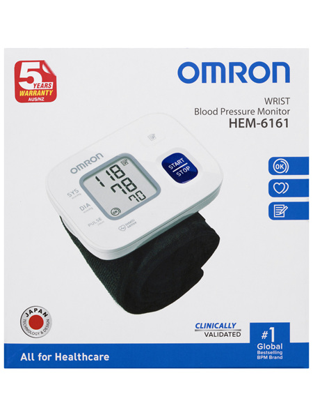 Omron HEM6161 Wrist Blood Pressure Monitor