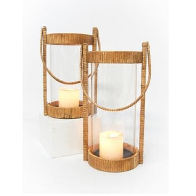 Opal Lantern - Natural Bamboo