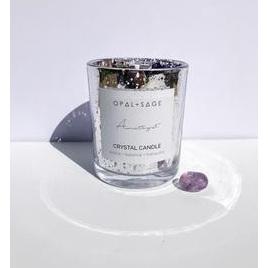 Opal & Sage Amethyst Candle