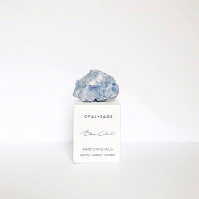 Opal & Sage Blue Calcite Crystal