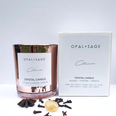 Opal & Sage Citrine Vanilla Candle