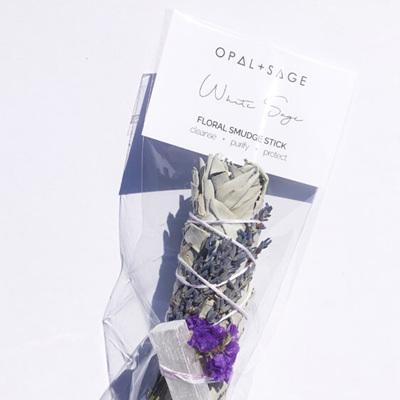 Opal & Sage Floral Smudge Stick