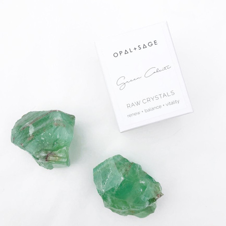 Opal & Sage Green Calcite Crystal
