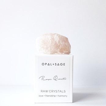 Opal & Sage Rose Quartz Crystal