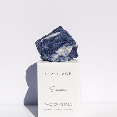 Opal + Sage Sodalite Crystal