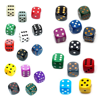 'Opaque' Chessex Six Sided Dice