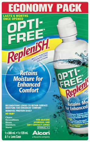 OPTI-FREE Replenish Contact Lens Solution Economy Pack