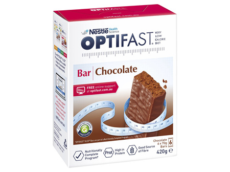 OPTIFAST VLCD Bar Chocolate - 6 Pack 70g Bars