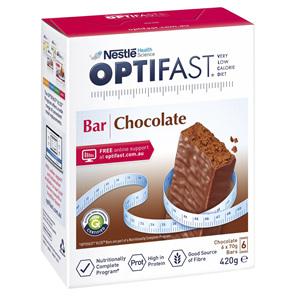 OPTIFAST VLCD Bar Chocolate - 6 Pack 70g Bars