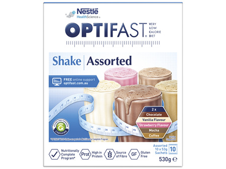 OPTIFAST VLCD Shake Assorted 10 Pack 530g