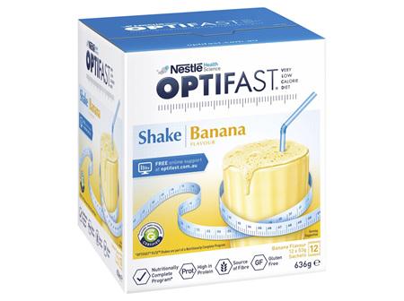 OPTIFAST VLCD Shake Banana - 12 Pack 53g Sachets