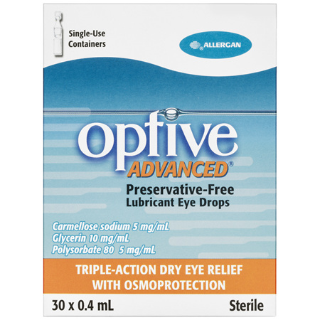 Optive Advanced Preservative-Free Lubricant Eye Drops 30 x 0.4mL