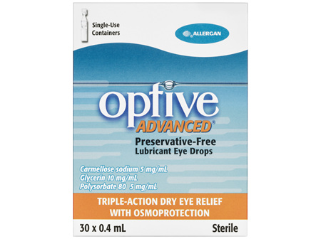 Optive Advanced Preservative-Free Lubricant Eye Drops 30 x 0.4mL