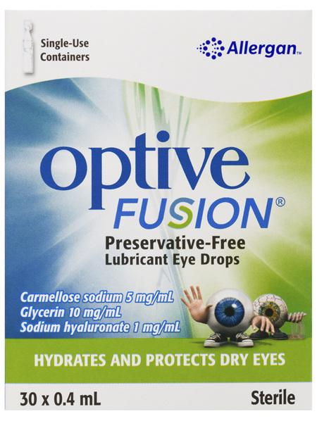 Optive Fusion Preservative-Free Lubricant Eye Drops 30 x 0.4mL