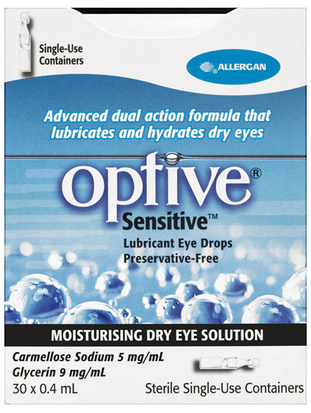 Optive Sensitive Lubricant Eye Drops 30 X 0.4mL