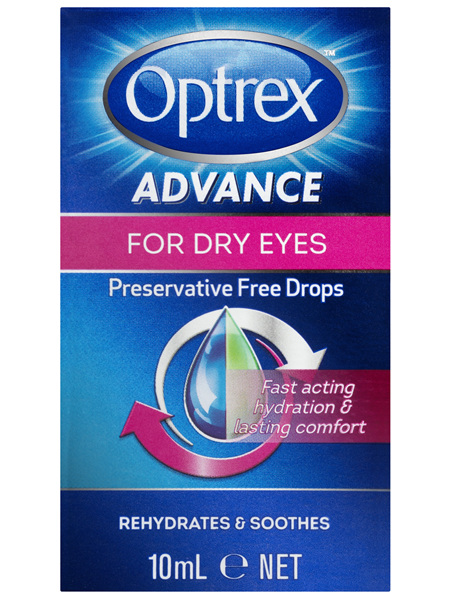 Optrex Advance Preservative Free Dry Eye Drops 10mL
