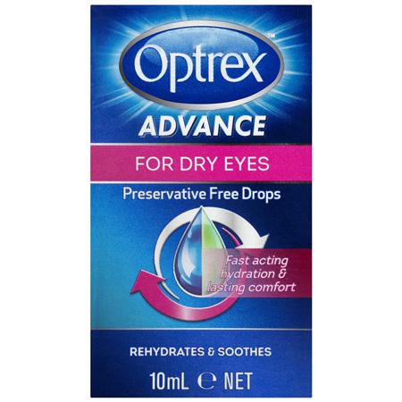 Optrex Advance Preservative Free Dry Eye Drops 10mL